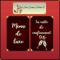 Confinement : menu de luxe, service Rabelais32